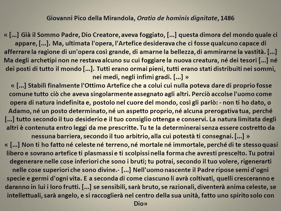 Giovanni Pico della Mirandola, Oratio de hominis dignitate, 1486 « [